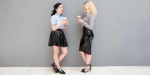 Clothing, Footwear, Sleeve, Joint, Style, Collar, Waist, Fashion, Street fashion, Knee,