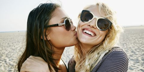 Eyewear, Glasses, Vision care, Lip, Mouth, Sunglasses, Outerwear, Happy, Facial expression, Summer,