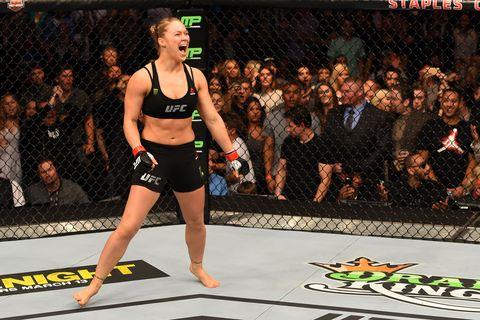 """<p>Rousey, a mixed martial artist and UFC champion, is no shrinking violet and is loud and proud when it comes to her powerful frame. She recently shut down haters during an installment of the <a href=""""http://www.marieclaire.com/celebrity/a14094/women-shut-down-body-shamers/"""" target=""""_blank"""">UFC 190 Embedded vlog series</a>. """"If people, like, say that my body looks masculine… I'm just like, listen, just because my body was developed for a purpose other than f*cking millionaires, doesn't mean it's masculine,"""" she said. """"I think it's femininely badass as f*ck because there's not a single muscle in my body that isn't for a purpose because I'm not a do-nothing bitch."""" <em>Preach!</em><br></p>"""