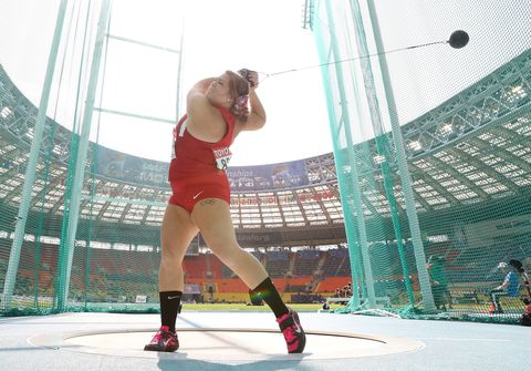 "<p>Speaking of feeling herself, hammer thrower Bingson is right there with her. She too appeared in <em><a href=""http://espn.go.com/olympics/story/_/page/bodychantaemcmillan/olympic-heptathlete-chantae-mcmillan-scars-all-espn-magazine-body-issue"" target=""_blank"">SI's Body Issue</a></em>, where she revealed that she was kicked off her high school volleyball team because she couldn't lose 30 pounds. Clearly, that didn't phase her, because she has unshakeable confidence: ""I'll be honest, I like everything about my body. I'm just going to throw far because I'm confident with myself and I don't have to worry about what I look like anymore,"" she said.</p>"