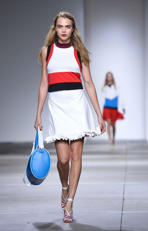 Clothing, Human body, Shoulder, Dress, Human leg, Red, Joint, Fashion model, Style, Fashion show,