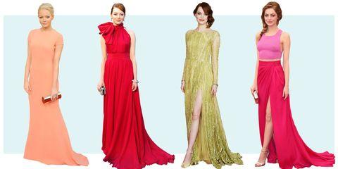 Clothing, Shoulder, Standing, Red, Waist, Dress, Formal wear, Pink, Style, Magenta,