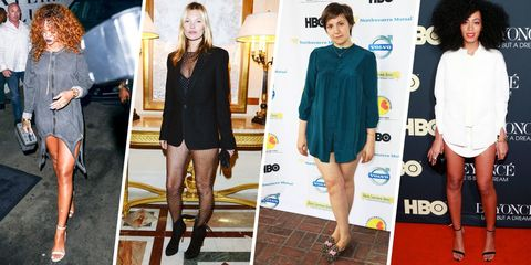 20 Times Celebs Forgot to Wear Pants, Totally Pulled It Off