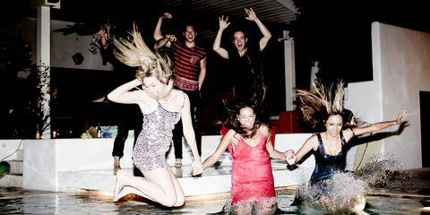 Fun, Leisure, Swimming pool, Costume, Dance, Swimwear, Water feature, Dancer,