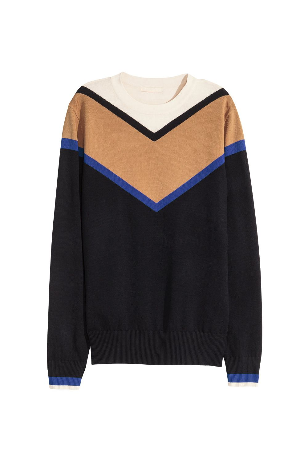 "<p>You know that this looks like something *expensive* you've seen before. </p><p>H&M sweater, $49.99, <a href=""http://www.hm.com/us/product/33969?article=33969-A"">hm.com</a>.</p>"