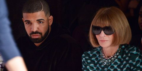 Drake and Anna Wintour attend the Serena Williams Signature Statement by HSN  show.