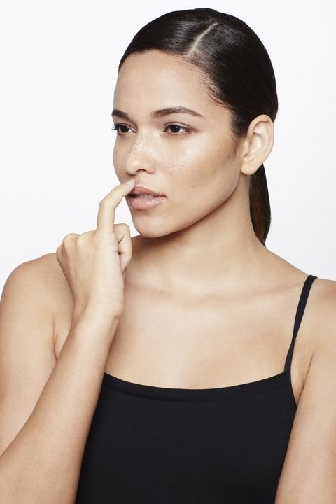"<p>You don't need to resort to Kylie Jenner measures to make your lips seem fuller. With your pinky, dab a tiny bit of liquid highlighter, such as <a href=""http://www.lorealparisusa.com/en/products/makeup/face/primer/true-match-lumi-liquid-glow-illuminator.aspx"" target=""_blank"">L'Oréal Paris True Match Lumi Liquid Glow Illuminator</a>, just above your cupid's bow. ""The reflection of light creates an instant pouty effect,"" says Jose.</p>"