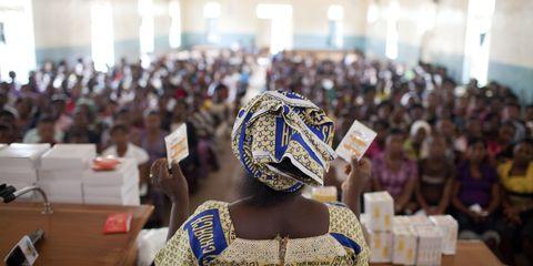 Condom discussion at Nongo u Kristu u ken Sudan hen Tiv (NKST) Church in Nigeria