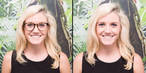 Here's What 10 People Look Like With and Without Their Glasses On