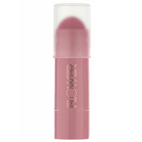 "<p>This double-duty formula is perfect to throw in your bag and go—it gives you a super-sheer flush on the cheeks but also works as a great lip stain. Plus, it's buildable. <em>Plus </em>plus, it's less than $10. What else do you want?</p><p>$9.99, <a href=""http://www.walmart.com/ip/Flower-Kiss-Me-Twice-Lip-and-Cheek-Chubby-Apricot-a-Lot-0.21-oz/31343530"" target=""_blank"">walmart.com</a></p>"
