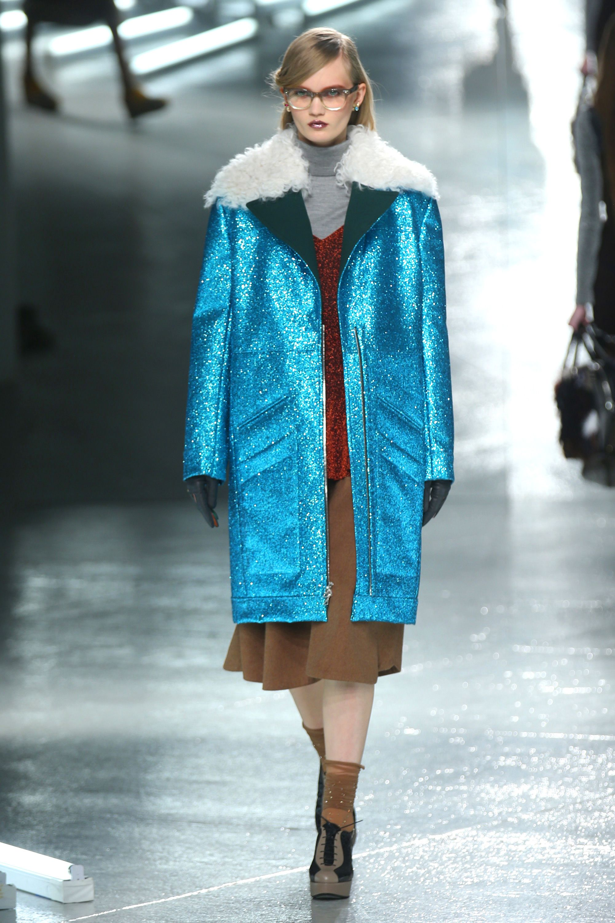 "<p>I have lusted after the <a href=""http://www.vogue.com/fashion-shows/fall-2014-ready-to-wear/rodarte/slideshow/collection#19"" target=""_blank"">Rodarte Fall 2014 glitter coats</a> and the <a href=""http://www.antwerp-fashion.be/show2014/raffaela-graspointner.html"" target=""_blank"">paillettes-covered coat</a> by Raffaela Graspointner, but there are also many vintage sparkly numbers out there. All I know is that we should all be like the lovely Aretha Franklin <a href=""https://www.youtube.com/watch?v=y0URYw27qd0"" target=""_blank"">and shine like a diamond ring</a>.</p>"