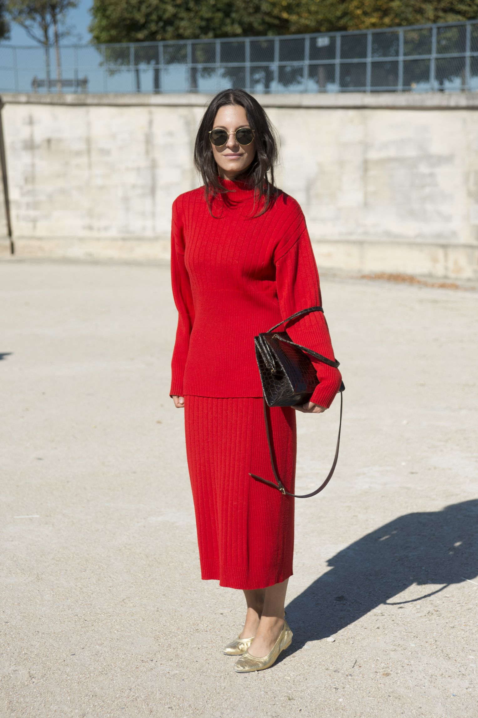 "<p>Head-to-toe knits have been A Thing since Phobe Philo, and they're showing no signs of stopping. Monochrome is best because 1) easy and 2) <a href=""http://www.marieclaire.com/fashion/tips/g3183/things-make-you-look-shorter/"">taller</a>. </p>"