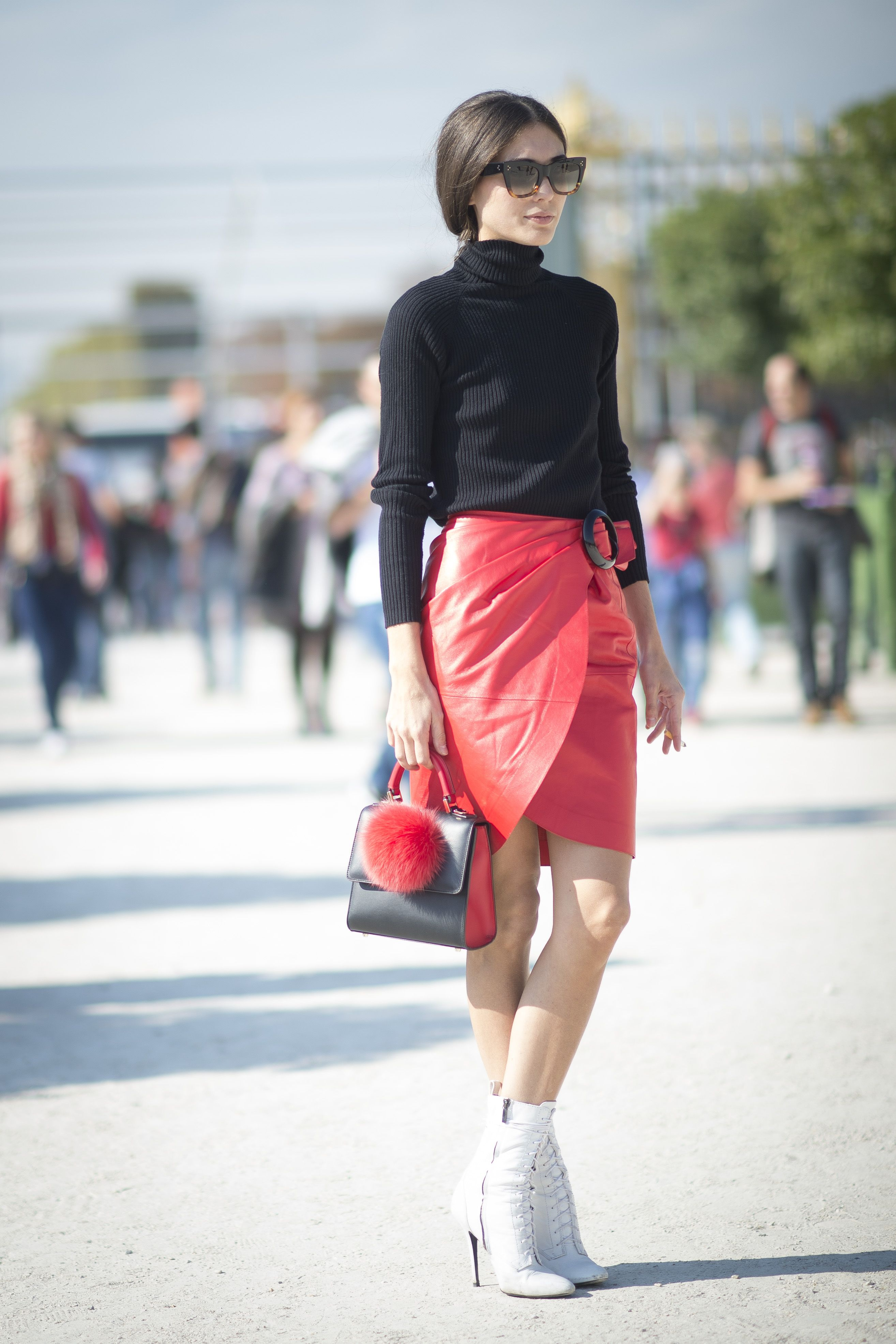<p>Textural contrast is just good style: With sweaters, you either want to go as different as can be (slick leather, abbreviated hemlines, shine)...</p>
