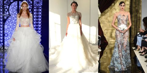 The 9 Most Mind-Boggling Wedding Gowns at Bridal Fashion Week