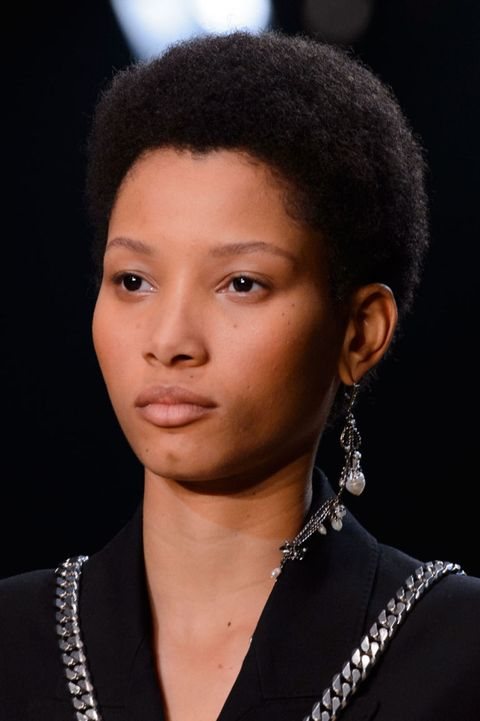 <p>Warning: This is as much a Lineisy Montero appreciation post as a story about oversize earrings. (She's the model right here.)</p>