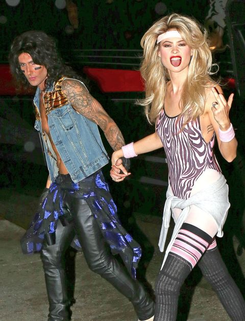 Behati Prinsloo and Adam Levine in their couples Halloween costume