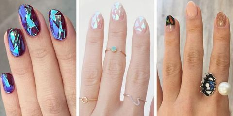 Blue, Finger, Skin, Nail, Nail care, Nail polish, Fashion accessory, Azure, Close-up, Manicure,