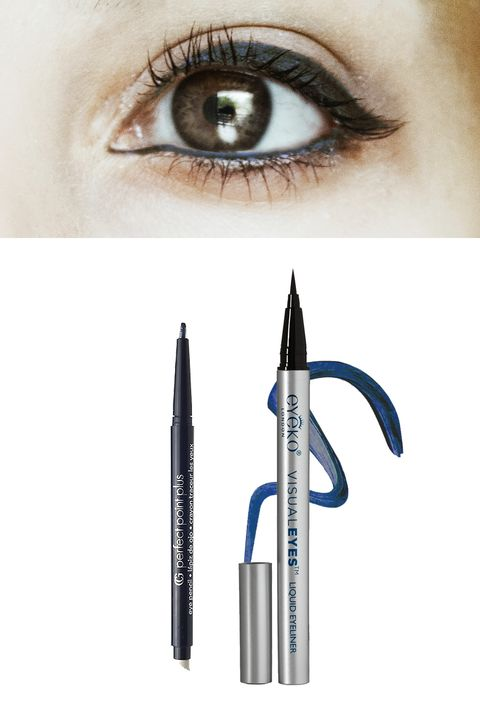 "<p>Blue liner has been all over the runways, but unlike electric blue, navy is super wearable during the day and into the night. And, as opposed to black, midnight blues will read softer on warm brown eyes.</p><p>Try: <a href=""http://www.drugstore.com/products/prod.asp?pid=19121&catid=183537&cmbProdBrandFilter=3328&aid=338666&aparam=19121&kpid=19121&CAWELAID=120142990000064792&CAGPSPN=pla"" target=""_blank"">CoverGirl Perfect Point Plus Eyeliner in Midnight Blue</a> ($5.69) or <a href=""http://www.net-a-porter.com/us/en/product/508851/eyeko/visual-eyes-liquid-eyeliner---ebony"" target=""_blank"">Eyeko Visual Eyes Liquid Eyeliner in Marine</a> ($19).</p>"