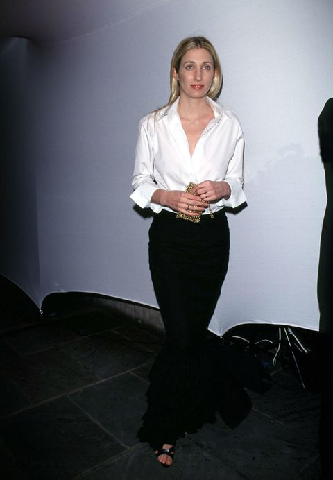 <p>Carolyn Bessette, Carolina Herrera—the official uniform of fashion's Classy Ladies Club is a crisp button-down (artistic wrinkles okay) paired with classic trousers or a skirt. </p>
