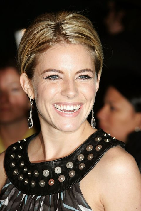 """<p><a href=""""http://www.marieclaire.com/celebrity/a15815/sienna-miller-october-2015-cover/"""">Marie Claire cover girl Sienna Miller</a> proves that yes, you can have a center part with a pixie cut. </p>"""