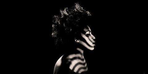 Darkness, Style, Monochrome photography, Monochrome, Colorfulness, Black-and-white, Eyelash, Flash photography, Portrait photography, Model,