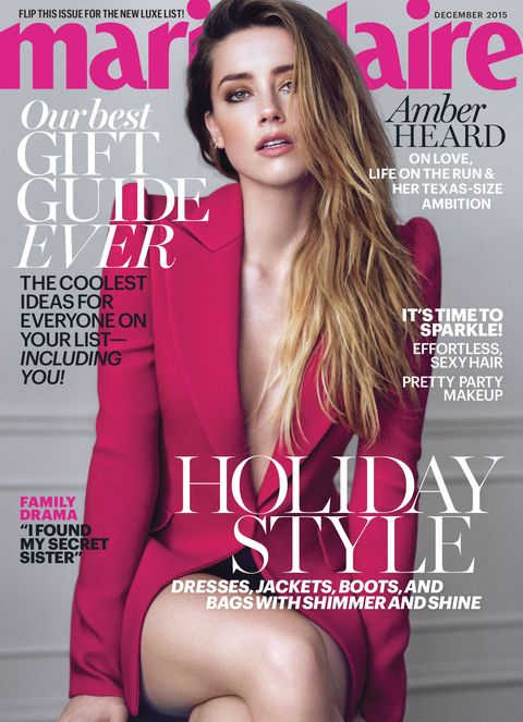 Amber Heard Sex Porn Captions - Amber Heard Marie Claire Cover Interview December 2015
