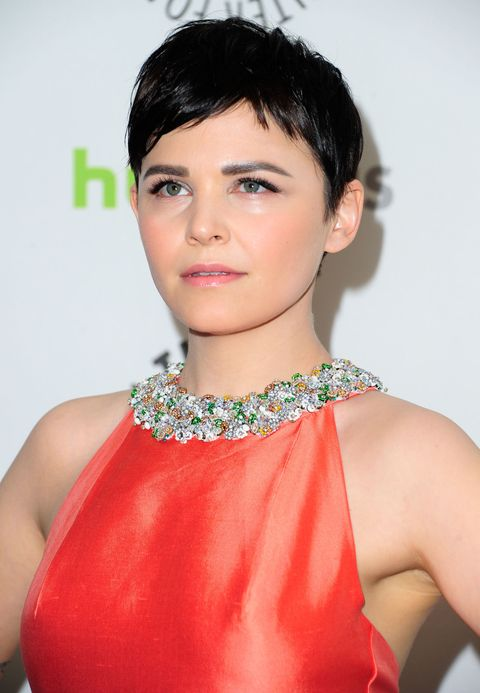 <p>The best part about this style? It keeps all of the attention on your face, as seen here with a glowing Ginnifer Goodwin.</p>