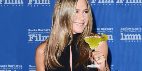 "<p>It just feels right that Aniston goes for a good ol' marg. ""Justin actually makes the perfect margarita with Don Julio 1942, because there's no agave, no sugar, no mix. It's pure tequila, lime juice, and a squinch of Cointreau. It's delicious,"" she <a href=""https://www.yahoo.com/beauty/jennifer-aniston-on-injectables-its-a-slippery-120723961783.html "" target=""_blank"">told Yahoo</a>. </p>"
