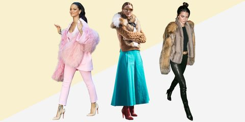 Leg, Sleeve, Textile, Outerwear, Standing, Fur clothing, Pink, Bag, Jacket, Natural material,