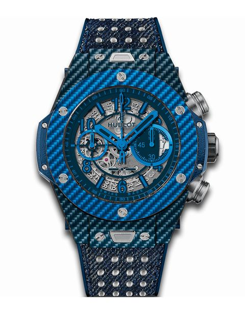 "<p>Hublot's Big Bang Watch turns 10, and now comes with a studded denim strap.</p><p>Price upon request; <a target=""_blank"" href=""http://www.hublot.com/en/collection/big-bang/big-bang-unico-blue-italia-independent?serie=28"">hublot.com</a></p>"