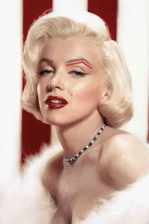 "<p>Bombshell Marilyn Monroe is known for her voluptuous physique. What may be less obvious is that her soft curves extend to her face. ""She doesn't naturally have a very pronounced jawline or cheekbones,"" says New York City-based makeup artist and brow pro William Scott. That's where her hyper-defined brows come into play: <strong>Strong arches compensate for less-than-chiseled cheekbones.</strong> They add structure to her face, Scott says, and broadcast that this is one bombshell who calls the shots. </p><p><img src=""https://secure.insightexpressai.com/adServer/adServerESI.aspx?bannerID=556073&script=false&rnd=[%%CACHEBUSTER%%]&tag=img"" style=""visibility: hidden; height: 1px; width: 1px;""></p>"