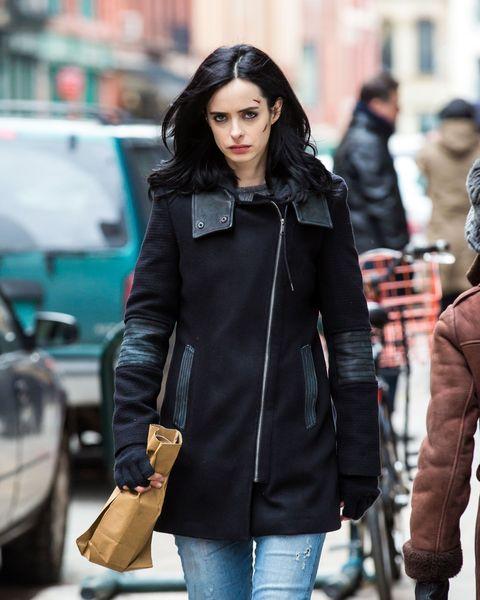Jacket, Textile, Denim, Jeans, Outerwear, Bag, Street fashion, Style, Coat, Fashion,