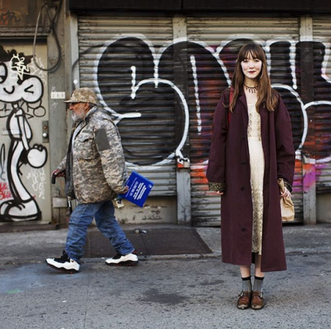 <p>You most likely have everything in this picture—the duster coat, a slip dress, buckled shoes—but have you put it all together in an eclectic, I-live-above-an-antiques-shop way? It's simultaneously modern and timeless. </p>
