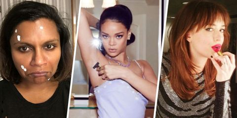 34 Glorious Times Celebrities Let Us See Their Beauty Routines