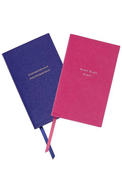 "<p>New year, new notebook. And who wouldn't feel chic jotting in one of these? ""Smythson has been a longstanding go-to for me because of the quality and the cheeky taglines,"" Eadie says.</p><p>Prices vary, <a href=""http://www.smythson.com/us/leather-agendas-and-books.html?cat=842"" target=""_blank"">smythson.com</a></p>"