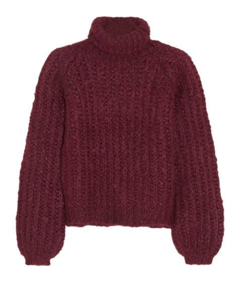 """<p>We're pretty sure you can get away with wearing a Chloé mohair sweater *anywhere* and with *anything*, but we'd pair it with tailored pants to offset the chunky vibe.</p><p>Chloé silk, mohair, and wool-blend turtleneck sweater, $717&#x3B; <a href=""""http://www.net-a-porter.com/us/en/product/587165/Chloe/silk-mohair-and-wool-blend-turtleneck-sweater"""" target=""""_blank"""">net-a-porter.com</a></p>"""