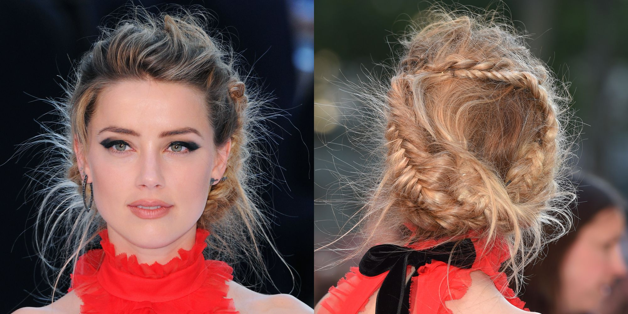 "<p>We deemed it <a href=""http://www.marieclaire.com/beauty/news/a14930/amber-heard-braid/"" target=""_blank"">The Fishtail to End All Fishtails</a> and not for nothing. There's a lot of mussed-up, herringbone-plaited magic going on in this flyaway-happy 'do.</p>"