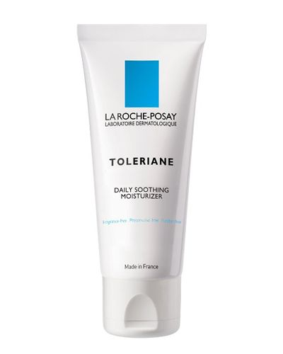 """<p>Having dry and acne-prone skin can make choosing a moisturizer that won't make you break out quite the minefield. Thankfully, the brains behind La Roche Posay heard your prayers, and created this lightweight, fragrance-free lotion, perfect for sensitive skin. </p><p><strong>La Roche-Posay Toleriane Soothing Protective Skincare Lotion</strong><strong>, $29&#x3B; <a href=""""http://www.amazon.com/La-Roche-Posay-Toleriane-Soothing-Protective/dp/B000IOBEQ2"""">amazon.com</a>. </strong></p>"""
