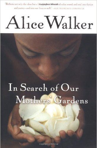 <p>I'm re-reading Alice Walker's collection of essays, <i>In Search of Our Mothers' Gardens</i>. The introduction of the book establishes perhaps the most radical expression of womanism: womanism is to feminist as purple is to lavender. It has become a sort of refrain for me, as I try to navigate political frameworks for my own burgeoning womanhood. The essays themselves are classically structured, ruminating at points but concerned primarily with making arguments for happiness and full embodiment of black women in a hostile world. If you read just one essay, make sure it is the eponymous one, where Walker reflects on how her mothers, both biological and cultural, cultivated her own perspective as a womanist writer. </p>