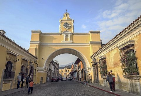 <p>Antigua is hot, hot, hot and not just because it's surrounded by volcanoes. Known for its Spanish colonial buildings, it also has its own Central Park, romantic cobblestone streets, working coffee farms, and regional restaurants.</p><p><strong>1 KM Taxi Ride:</strong> $0.70</p><p><strong>Domestic Beer:</strong> $2</p><p><strong>Meal-for-1 in an Inexpensive Restaurant:</strong> $5.80</p><p><strong>1 Night in a 3-Star Hotel:</strong> N/A</p>