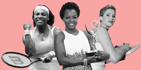 Serena Williams, Viola Davis, Jennifer Lawrence