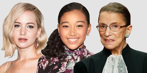 Jennifer Lawrence, Amandla Stenberg, Ruth Bader Ginsburg