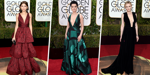 With All the Plunging Gowns, Fashion Tape Was the *Real* Winner at the Golden Globes