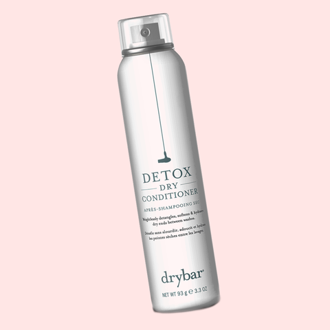 <p>Dry shampoo changed the haircare game forever and it now has an après-poo counterpart: dry conditioner. Similar to the OG, blowout-saving stuff, it gives unwashed hair love by softening and nourishing (yes, <em>hydrating</em> those ends) <em>and </em>providing a lovely scent. The big difference? You don't apply it to your roots.</p><p>Drybar Detox Dry Conditioner, Coming in March 2016.<br></p>