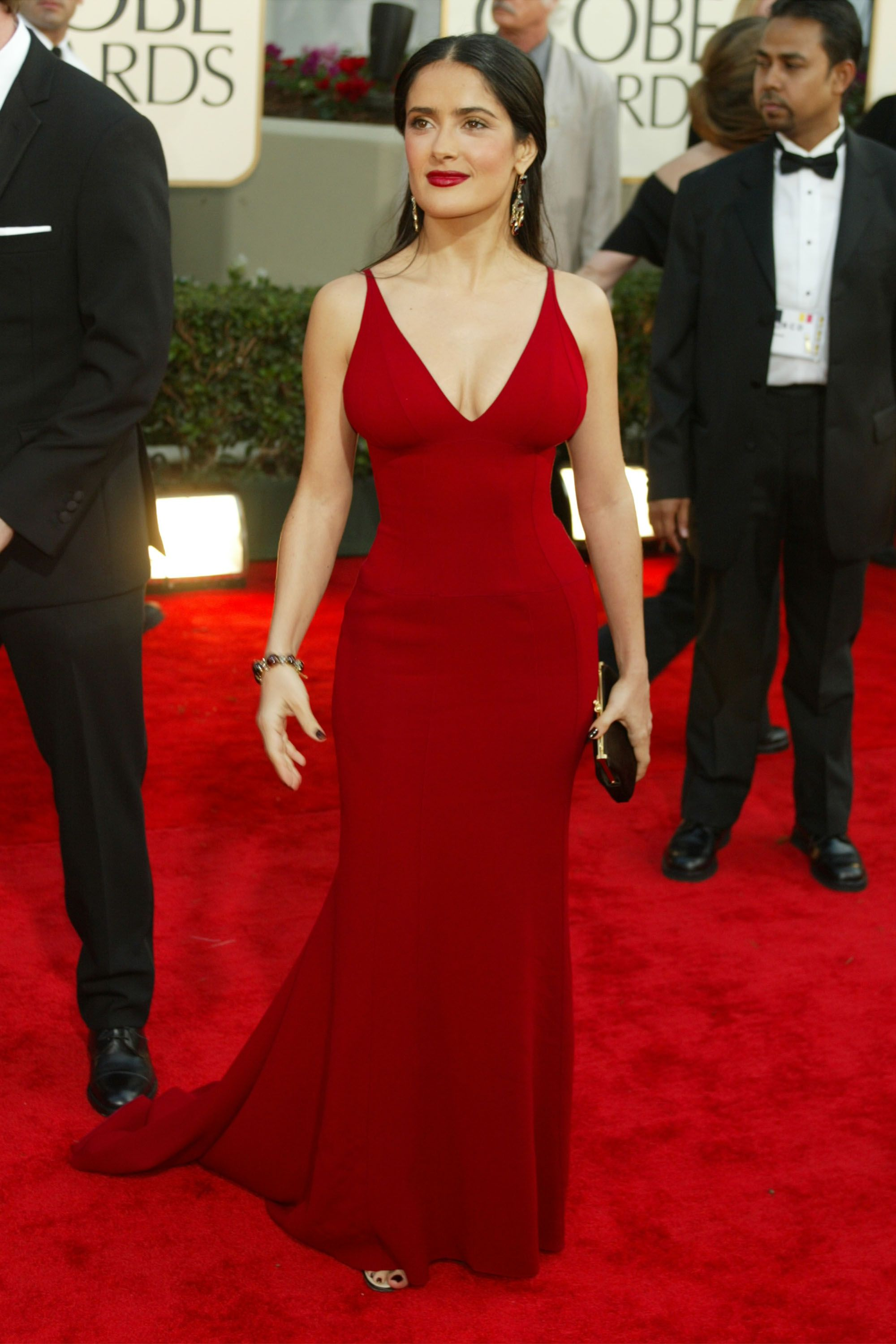 <p><strong>Who: </strong>Salma Hayek</p><p><strong>What: </strong>Narciso Rodriguez</p><p><strong>When: </strong>2003</p><p><strong>Why: </strong>A)<strong> </strong>Girl, look at that body. B) This is why more people should wear Narciso—he won't turn you into Salma Hayek, but he's going to make you *look* like the Salma Hayek-iest you possible. </p>
