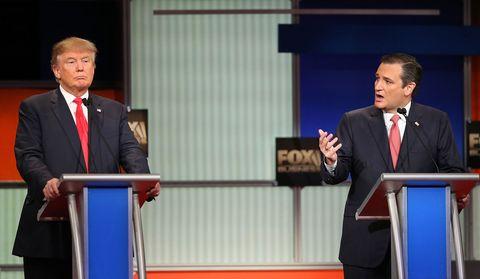 Donald Trump and Ted Cruz
