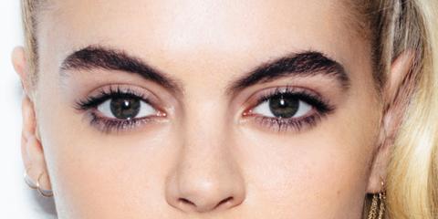 Lip, Cheek, Brown, Skin, Eyelash, Forehead, Eyebrow, Eye shadow, Beauty, Purple,
