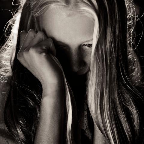 Lip, Hairstyle, Eyelash, Long hair, Beauty, Monochrome, Monochrome photography, Blond, Nail, Black-and-white,