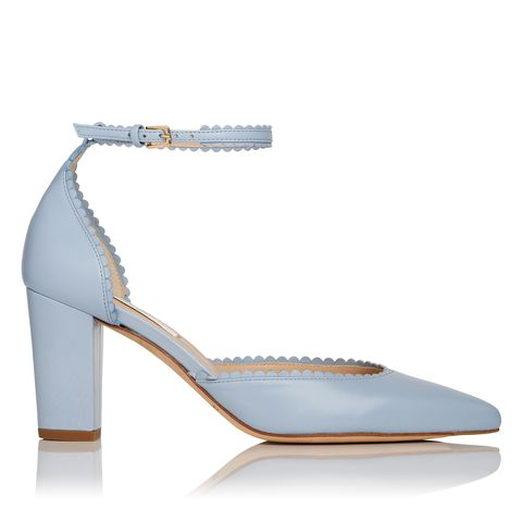 "<p>""Alexa"" in cornflower blue, $495, <a href=""http://www.lkbennett.com/"">lkbennett.com</a>.</p>"
