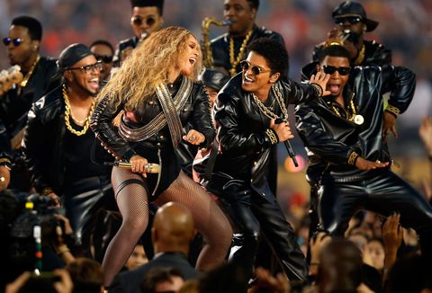 <p>After dropping Formation the day before her performance, we saw Beyoncé kill it at during the Super Bowl Half Times show and collaborated with Bruno Mars and Coldplay in a hit politically inspired performance, which touched on racial and LGBTQ equality. </p>